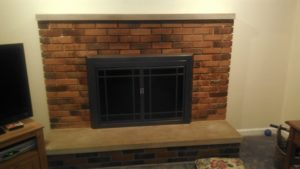 Smoke stain removal around fireplaces