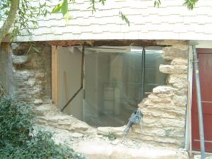 Stone foundation repairs